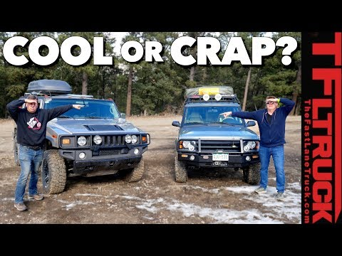 Old vs Old: Which of These Two Trucks Is The Bigger Turd? Hummer or Disco?