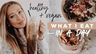 WHAT I EAT IN A DAY: Easy, Vegan, Fall Recipes!