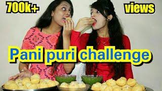 Gol Gappa Challenge With My  Sister- Eating Pani Puri Challenge