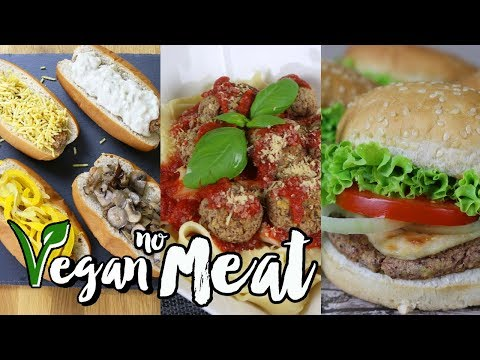 Video NO MEAT   How to Make Vegan Hamburger and Sausage   Healthy & Easy Recipe