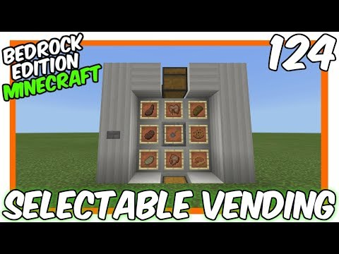 Easy Selectable Item Vending Machine Bedrock Edition Minecraft Project