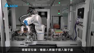 台達工業機器人 PLC產線 插件工作站