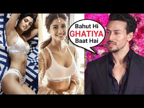 Tiger Shroff ANGRY Reaction On Disha Patani Calvin Klein Photoshoot Controversy