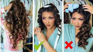 2 ★ VIRAL HEATLESS CURLS TESTED & Compared 💕*which Is Actually Better* | Hair Tutorial