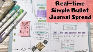Real-time Simple Bullet Journal Spread | #UseYourStash