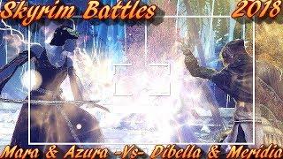 Skyrim Battles - Mara And Azura vs Dibella And Meridia Legendary Settings