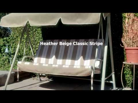 Patio Swing Cushions, Seat Support And Canopy Fabric Replacement