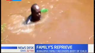 Body of 8 year old boy who drowned on New Year\'s Eve recovered by Bungoma Family