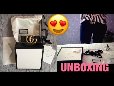 14eed8def29fdd 2017 Unboxing GUCCI Marmont BELT , 4cm width , Gucci size 85 || Marta  In_Vogue_UK - In Vogue UK