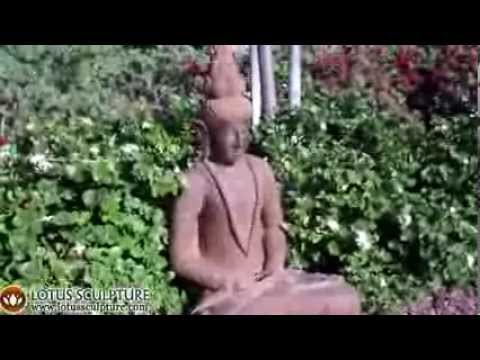 SOLD Stone Flame Finial Buddha Statue 40