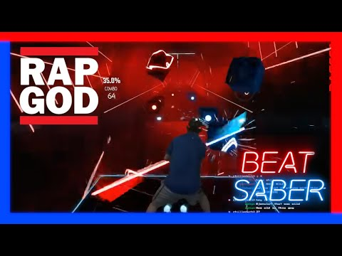 Eminem Rap God on Beat Saber-Darth Maul style