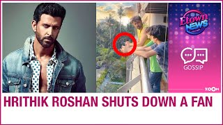 Hrithik Roshan SHUTS DOWN a fan asking if he is smoking in his latest picture with his kids