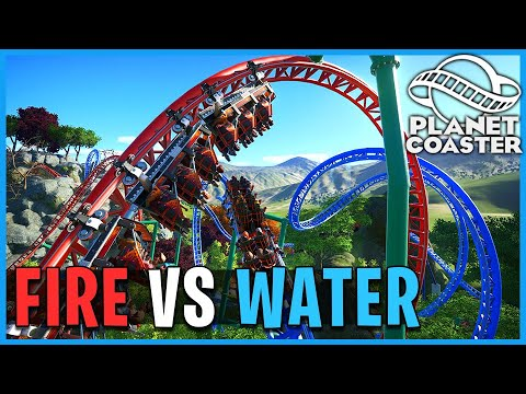 Fire Vs Water! Planet Coaster: Coaster Spotlight 736
