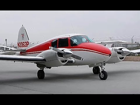 GoPro 1958 Piper PA-23-160 Apache Flight Chino Airport & Touch and Go at Ontario Airport