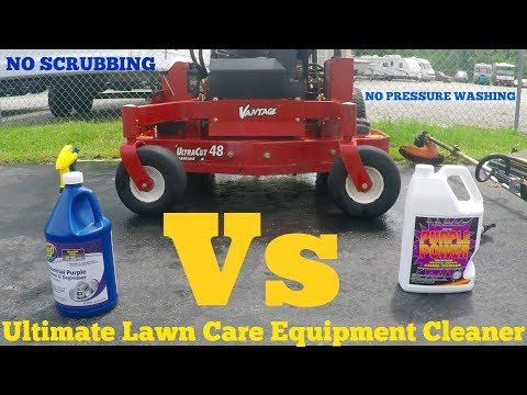 Ultimate lawn equipment cleaner- Zep Industrial purple cleaner Vs Purple Power