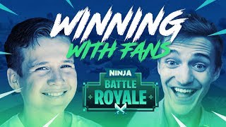 Winning With Fans!!   Fortnite Battle Royale Gameplay   Ninja