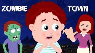 Zombie Town   Schoolies Cartoons   Halloween Songs & Rhymes For Children   Kids Channel