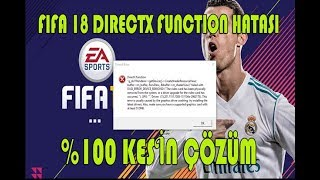 Fifa 17/18 Graphics And Direct X Error || how to fix directx