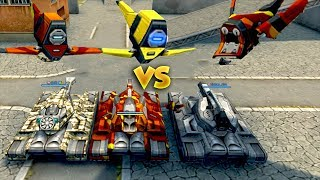 PLAYERS WITH DRONES VS PLAYERS WITHOUT DRONES - TANKI ONLINE