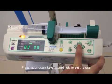 How to operate syringe pump MedCaptain SYS 3011