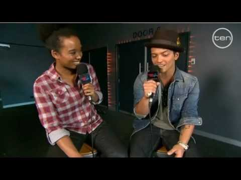 Faustina catches up with Bruno Mars