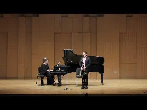 Daniel J. Cosio performing Léon Stekke's Variations in F-sharp minor on tenor trombone.
