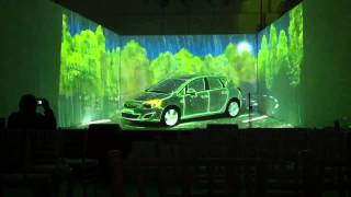 Opel video projection