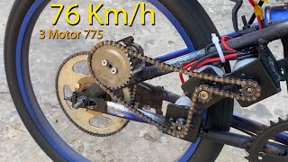 How to Make a Powerful Electric Bicycle with 775 Motor 3 70km/h