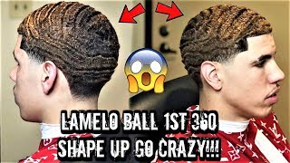 LAMELO BALL AKA DURAG MELO GETS A CRAZY 360 WAVE SHAPE UP LIVE AND DIRECT! \\ *MUST SEE*