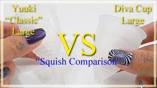 "Yuuki Classic Lg vs Diva Cup Lg ""Squish"" - Menstrual Cup"