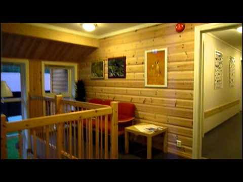 El albergue de Flåm, una casa de madera en mitad del campo