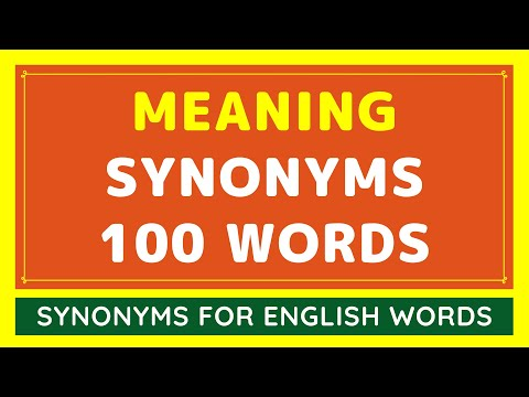 100 Best Synonyms for Meaning | What Is Synonym Words For Meaning?