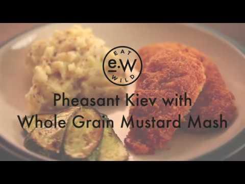 Pheasant Kiev with Mustard Mash