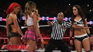 Brie Bella Vs. Cameron & Eva Marie – 2-on-1 Handicap Match: Raw, Sept. 29, 2014