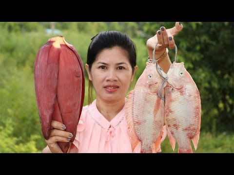 Awesome Cooking Fish With Banana Flower Recipe – Cook Fish Recipes –  Village Food Factory