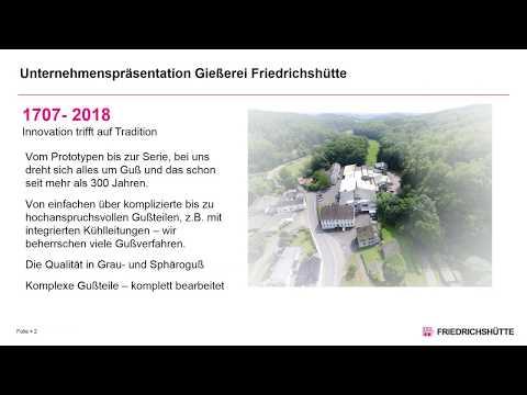 Unternehmenspräsentation Gießerei Friedrichshütte