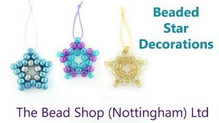 Beaded Star Decorations