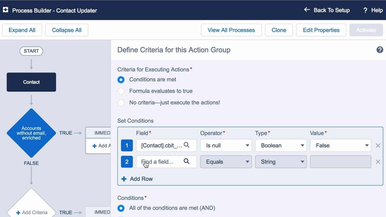Using Salesforce's Process Builder With Clearbit
