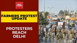 Farmers Face Water Cannons, Tear Gas To Push Through Haryana, Reach Delhi Border | India Today - Download this Video in MP3, M4A, WEBM, MP4, 3GP