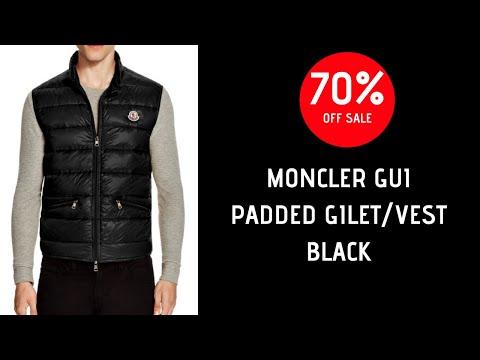 Moncler GUI Padded Gilet Vest Jacket  Black (SALE!)