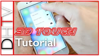 How To Use 3D Touch Tutorial - iPhone 6s & 6s Plus Tips