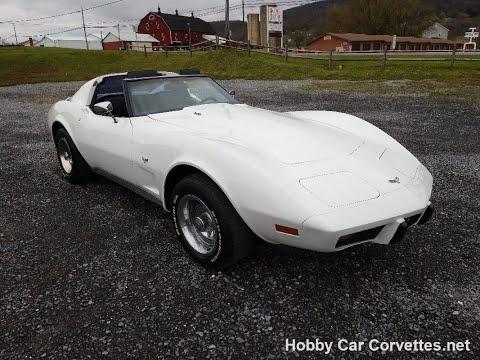 1977 White Corvette T Top Black Interior Video