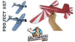 Make A Foam Airplane That Is Better Than Balsa Wood! SonicDad Project #57 - The F4U Corsair