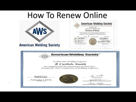 How To Renew Your CWI Certification Online Through AWS ...