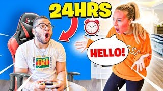 IGNORING MY GIRLFRIEND FOR 24 HOURS!!! *she cried*