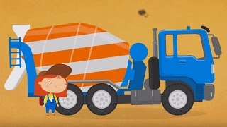 Мультфильм про машинки - Раскраска Доктор Машинкова - Бетономешалка