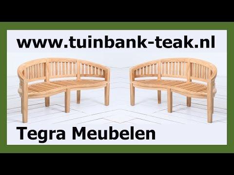 Ronde Tuinbank [TIP] Bananenbank Teak 150cm een mooie Ronde Tuinbank