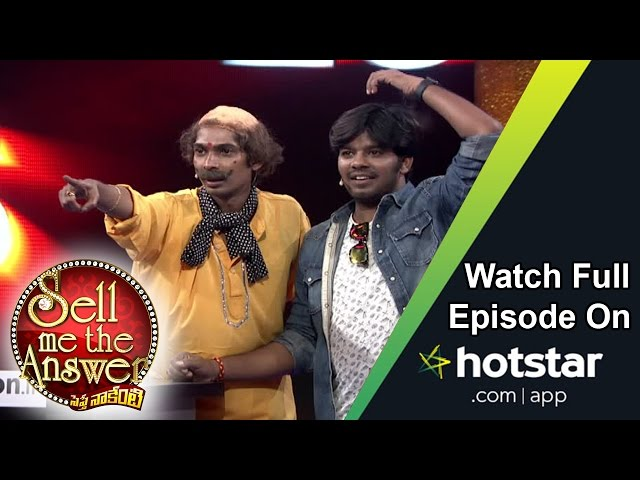 Dhan Raj & Sudheer at Sell Me The Answer – 17th July 2016 – Full Episode