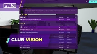 FM2020 Club Vision / New Feature