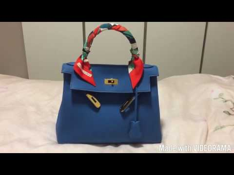 Hermes bag Kelly 28 Retourne Togo review, price and what's in my bag!